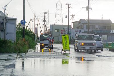 石巻地方 1時間で20ミリ 道路冠水や停電が発生 雷雨が帰宅時間帯を直撃