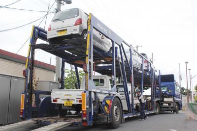 石巻から九州へ支援車両が出発 培ったノウハウ被災地に生かす 日本カーシェア協会